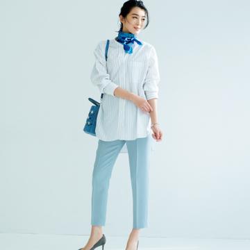 【春の「ベーシックカラー」パンツ】定番色を少しだけズラしたカラーで装いの鮮度をアップ!