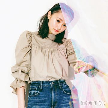 三女・遠藤さくらは「ハイウエストストレート」で今っぽスウィートに②【坂道3姉妹のデニム】