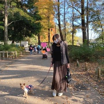 愛犬と秋のお出かけ