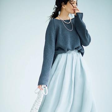【春の「透け感」スカート】一枚で着映え感も格別!ふんわり系スカート