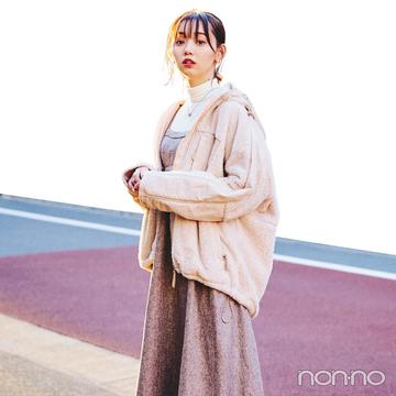 江野沢愛美の冬私服♡ ZARAのブラウスを効かせたガーリーコーデに注目!