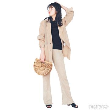 馬場ふみかはオーバーサイズジャケットをセットアップ風に感度高く!【毎日コーデ】