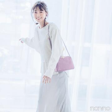 西野七瀬は春らしいエクリュのワントーンで上品スタイル【毎日コーデ】
