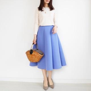 褒められスカートはボンディング素材【tomomiyuの毎日コーデ】