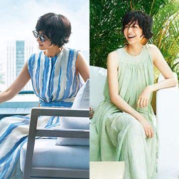 富岡佳子さんが着る「優雅なサマードレス」で大人の休日スタイル