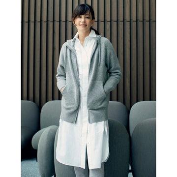 スタイリスト森慶子さんが厳選!「LAPEREAU」のカシミア混ニットパーカ、ロングシャツ