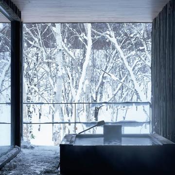 1.雪景色のための特別な立地で最高のおもてなし
