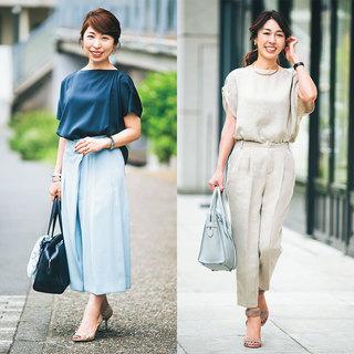 通勤パンツも堅すぎず、きちんとおしゃれなのが美女組流 Style【美女組ファッションSNAP】