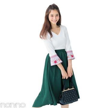 新木優子が着る♡ プチプラヘムスカートを今から冬まで可愛く長〜く着る方法