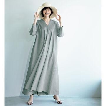 日常を華やかに彩る素材とシルエットが秀逸!「ATON」のドレープドレス