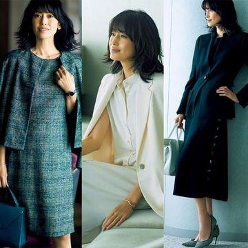 【働く50代女性に】エレガントに装いたい日の『ジャケット×ワンピース』