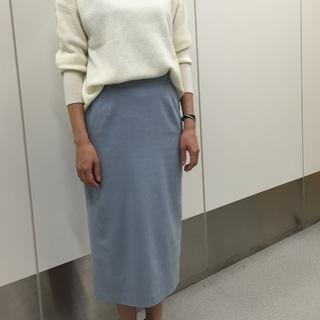 先出し!10月号のM7daysのワッフルトップス&スウェードスカート【SHOP Marisol】