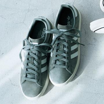 adidas originalsのグレースニーカーでカジュアルを格上げ
