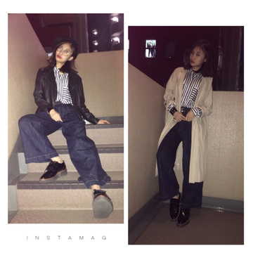 春のカジュアルスタイル♡2パターン
