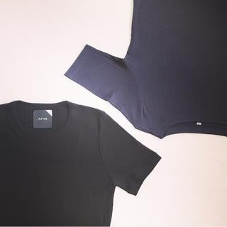 I ♡ リブTシャツ ♪ NEW  in はATONとユニクロのボートネック!