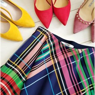 春の「一点投入服」は鮮やかカラーのチェックスカートで♡
