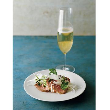 フライパンで焼くだけ!塩で食べる和食「鴨山椒」レシピ【有元葉子さんのシャンパーニュとこの一皿】