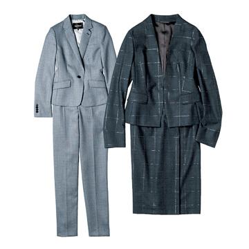 「秋のお仕事スーツ」はVあきノーカラー&テーラードで決まり 五選