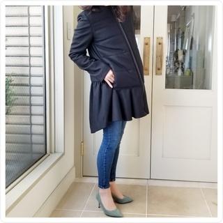 バックスタイルのティアードが可愛い『YOKO CHAN』のコート♡