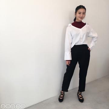 高田里穂はMURUAできれいめパンツコーデ★【モデルの私服】