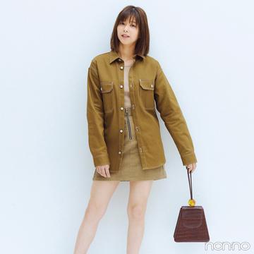 渡邉理佐はトレンドのシャツジャケットでミニスカを大人っぽく!【毎日コーデ】