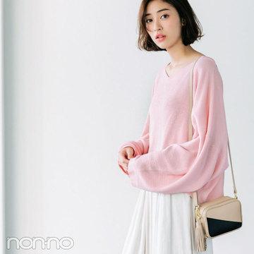 人気ブランド春のセット買い☆ビームスでは淡ピンクトップス+スカーチョ
