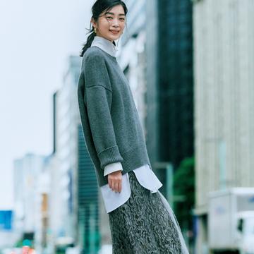この冬は「マキシ丈&ナロー」スカートがイチ押し!【今、注目は揺れスカート】