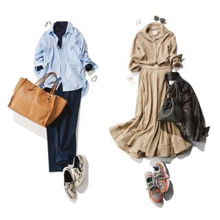 上品さを忘れない。きれいめ派の大人におすすめスニーカーコーデまとめ | 40代レディースファッション