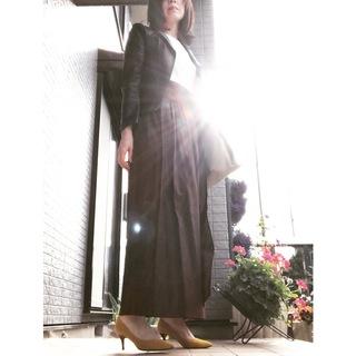 リアル通勤コーデ。スイスイ帰ろう水曜日はマキシ丈スカートで遊び心をプラス!