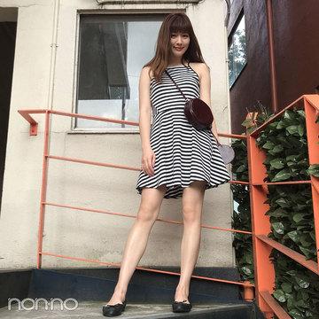 岡本杏理はH&Mのミニワンピで夏先取りコーデ♡【モデルの私服】