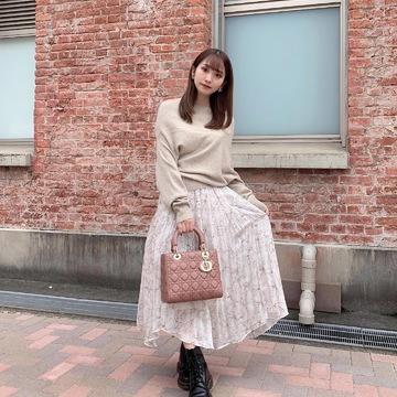 【低身長さん向け】秋のデートコーデ♡オフショル×フィッシュテールスカート【154cm 】