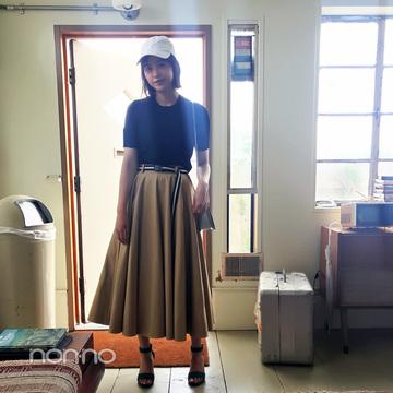 渡邉理佐はヒット中のチノスカートをカジュアル可愛く♡【毎日コーデ】