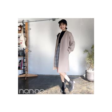 鈴木友菜はガウンコートをキャップでカジュアルMIX 【毎日コーデ】