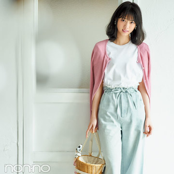西野七瀬がお手本! いつもの服が+ピンクでこなれ見え3スタイル