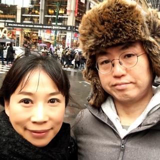 31日、お昼に日本の年越し時間に合わせて年越し蕎麦をミッドタウンで食べた後のお散歩、寒い中 ちらほらとタイムズスクエアのカウントダウンに並ぶ人が出てきて居ました。この頃はまだ元気・・・(汗)
