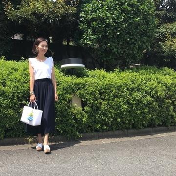 UNIQLOのカットソーロングスカート☆