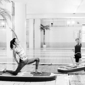 チームJ マダム 山﨑則子さんが挑戦! 浮かぶ感覚が気持ちいい。 バランスをとるので体幹に即効!