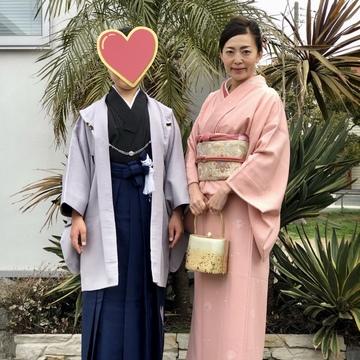 桜色の着物を着て卒業式へ♪_1_4-2