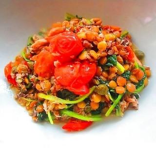 レンズ豆のサバトマト炒めレシピで、アンチエイジングを加速!