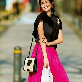 華やかで女らしい!2019年夏ロングスカートコーデ|40代ファッション