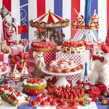 2組4名様をご招待! ヒルトン東京のいちごのデザートビュッフェ「ストロベリーCATS コレクション」♡