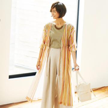 富岡佳子さんが着こなす初夏のワードローブ