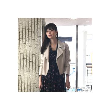 新川優愛が着る淡色ライダースの甘辛MIXコーデ【毎日コーデ】
