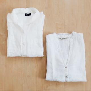 今年はZARAのリネンシャツにアップデート。