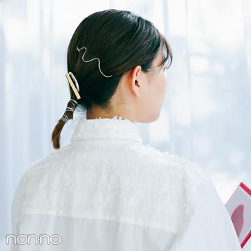 渡邉理佐のトレンドヘアアクセ★ アートなゴールド&シルバーで差がつく!