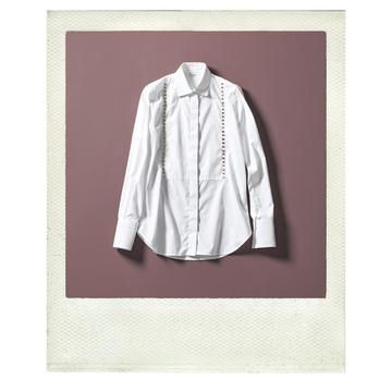 モデル SHINYAさん  ヴァレンティノのスタッズつきシャツ