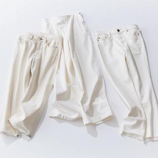 ロープラで形のきれいな優秀白デニムってありますか?