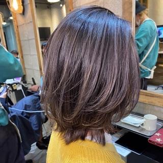 <hair cut>  バレイヤージュに挑戦!