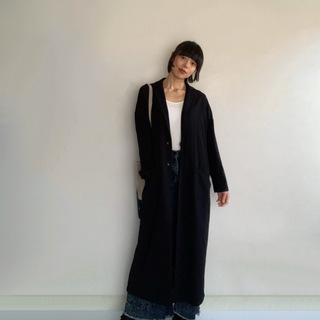 ロングアウター、今年の私の着こなし方はこれ。マキシの合わせ技でロング&リーンに。