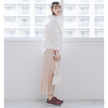2019秋トレンド速報★ スニーカーは秋色×白ソールが使える!